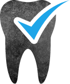 Animated tooth with checkmark