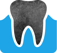Animated healthy teeth and gums
